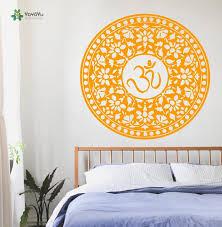 Yoyoyu Wall Decal Vinyl Art Room Decor Sticker Yoga Design Indian Pattern Mandala Adesivi Parede Om Sign Yo193 Room Decor Stickers Decorative Stickerswall Decals Aliexpress
