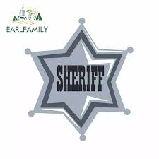 Earlfamily 13cm X 11 1cm For Silver Sheriff Star Badge Motorcycle Car Bumper Window Stickers Car Accessories Fashion Decals Car Stickers Aliexpress