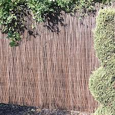 Willow Screening Roll Screen Fencing Garden Fence Panel Outdoor Wooden 4m Long 4m X 1m Amazon Co Uk Garden Outdoors