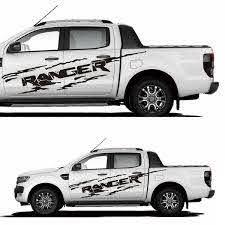 1set 2pcs Sticker Cover Car Ranger Logo Vinyl Decal For Ford Ranger T6 Mk2 2012 2017 Wish