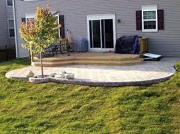 paver patio deck combination i love