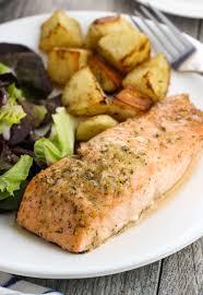sheet pan horseradish salmon and potatoes