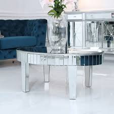 mirror tiled coffee table donna