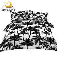 blessliving palm trees bedding set king