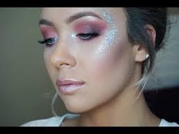 inspired pink glitter makeup tutorial