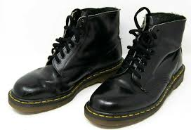 black leather boots mens size