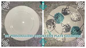decorative plate dollar tree charger