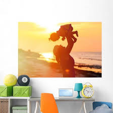 Mother And Little Daughter Wall Decal Wallmonkeys Com