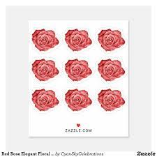 Red Rose Elegant Floral Planner Scrapbook Sheet Sticker Zazzle Com Floral Planner Planner Scrapbook Red Roses