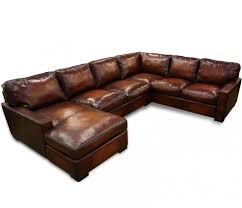 oversized seating leather sectional