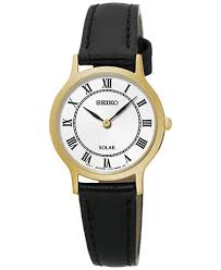 dress black leather strap watch 26mm sup304