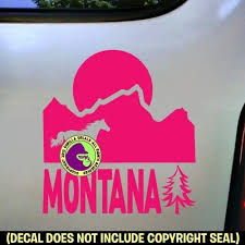 Montana State Vinyl Decal Sticker Gorilla Decals