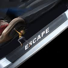Carbon Fiber Vinyl Sticker Car Door Sill Protector Scuff Plate For Ford Escape Car Accessories Wish
