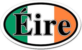 Amazon Com Ireland Eire And Irish Flag Car Bumper Sticker Decal Oval Arts Crafts Sewing