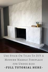 diy this modern marble fireplace for