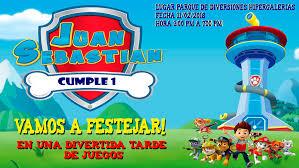 Fiesta Infantil Al Estilo Paw Patrol Juan Sebastian Cumple 1