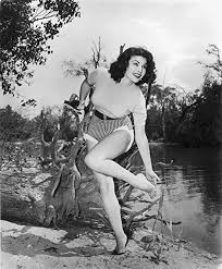 The Poster Corp Mara Corday Next to a River Photo Print (60,96 x ...