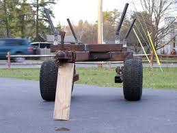 built an atv log firewood trailer in