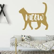 Cat Silhouette Wall Decal Vinyl Decor Wall Decal Customvinyldecor Com