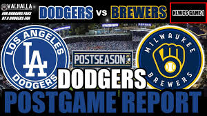 Dodgers VS Brewers POSTGAME REPORT Game ...