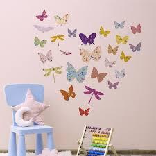 Shop Walplus Floral Butterfly Dragonfly Children Wall Sticker Nursery Decor Overstock 31768897
