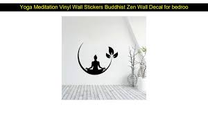 Yoga Meditation Vinyl Wall Stickers Buddhist Zen Wall Decal For Bedroom Removable Wall Sticker Deco Youtube