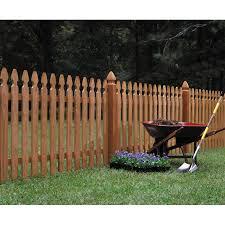 Wood Fencing 42 X 8 Premium Cedar Gothic Picket Fence Panel Lowes Com Wood Picket Fence Picket Fence Panels Wood Fence