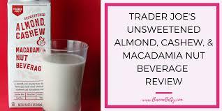 trader joe s unsweetened almond cashew