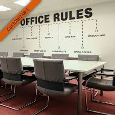 Office Rules Wall Decal Kuarki Lifestyle Solutions