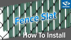 How To Install Chain Link Fence Slats Youtube