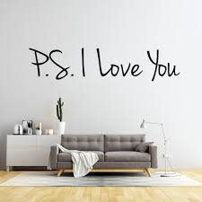 Ps I Love You Wall Sticker Infinity Vinyl Removable Inspirational Quotes Art Decal Home Decor Bedroom Living Room Wallpaper Infinity Wall Sticker Wall Stickerdecoration Bedroom Aliexpress