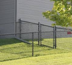 Residential Black Chain Link Single Swing Gate America S Fence Store