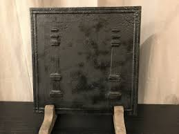 cast iron fireplace plate late 18th