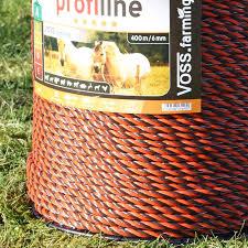 Voss Farming Electric Fence Rope 400m Orange Brown Profi Line