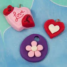 make homemade clay charms and pendants