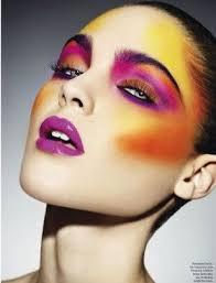 trendy makeup ideas purple and orange