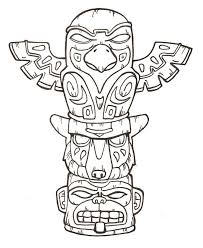Free Printable Totem Pole Coloring Pages For Kids Totempaal