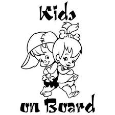 Cute Kids On Board Cartoon Warning Car Sticker Window Decoration Vinyl Decal Buy At A Low Prices On Joom E Commerce Platform