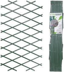 Urbnliving Set Of 2 Expanding Green Plastic Wall Foldable Trellis Fence Amazon Co Uk Kitchen Home