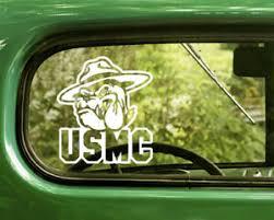 2 Usmc Bulldog Decals U S Marine Corp Sticker For Car Truck Window Bumper Ebay