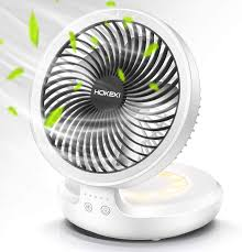 Amazon Com Wireless Desk Fan With Night Breathing Light Air Circulator Usb Table Fan 90 Degree Rotation Portable Foldable Office Fan For Home Office Travel Camping Outdoor Indoor Fan 4 Speed Setting Kitchen