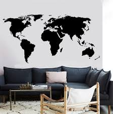 Mega Deal 3fdb5b Large World Map Wall Decal Office Classroom Decoration Vinyl Wall Sticker Home Living Room Room Wall Sticker Dt16 Cicig Co