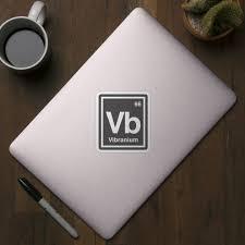 Vibranium A Marvel Element Marvel Sticker Teepublic