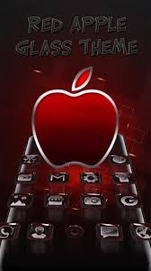 3d Red Apple Glass Theme For Android Apk Download