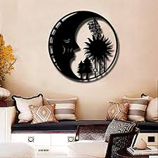 artmyharbor sun and moon metal wall art