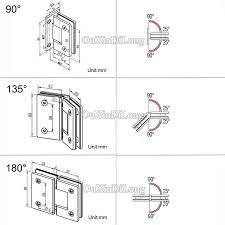 shower glass door hinges
