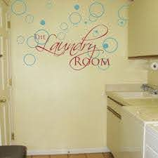 The Laundry Room Lettering And Bubbles Wall Decals
