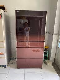 Tủ lạnh nhật Hitachi 6 cánh R-X7300F 2016 mặt kính vip
