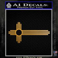 Zia Symbol Stretched Decal Sticker New Mexico A1 Decals