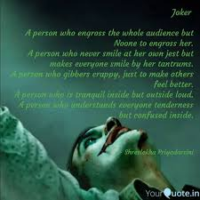 joker a person who engr quotes writings by shreelekha